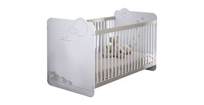 Jungle lit bébé blanc 60x120