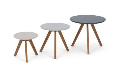 Orion tables d'appoint gris