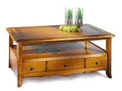Cheverny table basse peuplier